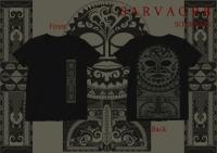 Tiki Mask Tribal / Short Sleeve UネックTシャツ (Black)