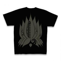 Spiral Lotus / Short Sleeve Tシャツ (Black)