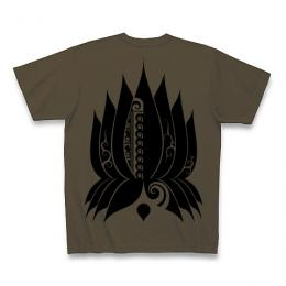 Spiral Lotus / Short Sleeve Tシャツ (Olive)