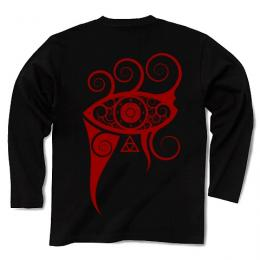 In My Projector / Long Sleeve Tシャツ (Black-Red)