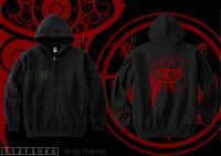 In My Projector / Zip Up Hoodie ジップアップパーカー (Black-Red)
